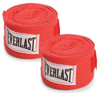 Bandagem Everlast 2,74m Vermelha