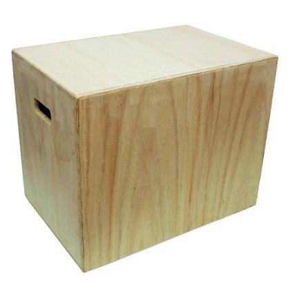 Caixa Para Saltos Plyo Box Crossfit 3 em 1 - 75cm x 60cm x 50cm