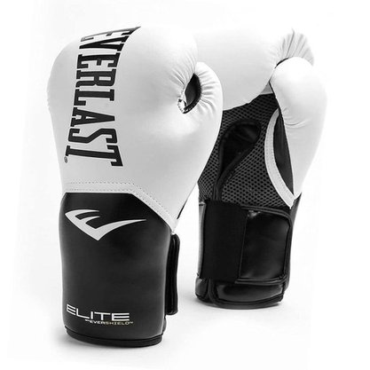 Luva Boxe e Muay Thai Everlast Pro Style Elite V2 Branca 12oz