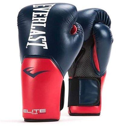 Luva Boxe e Muay Thai Everlast Pro Style Elite V2 Azul e Vermelho 14oz