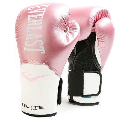 Luva Boxe e Muay Thai Everlast Pro Style Elite V2 Rosa e Branco 12oz