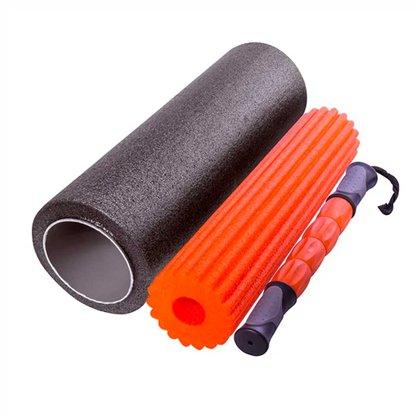 Rolo De Massagem Foam Roller 3 em 1