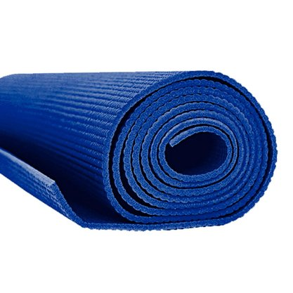 Tapete Para Pilates E Yoga 6mm Azul Serigrafado Falcon Fit
